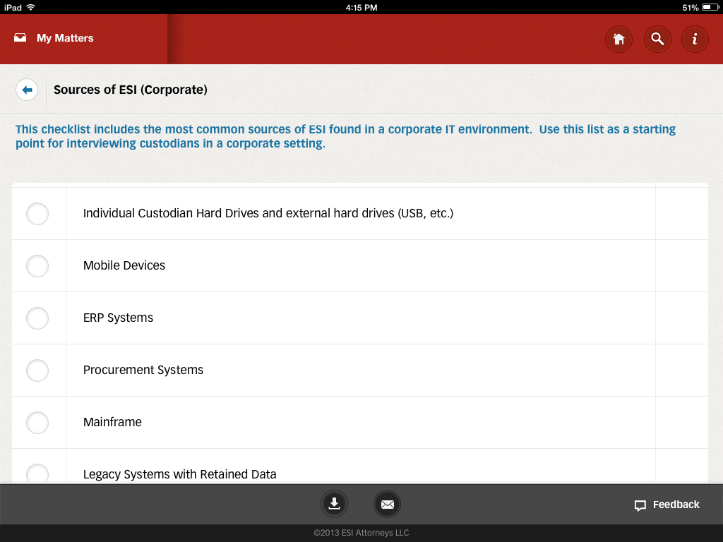 ediscovery assistant for iPad 3