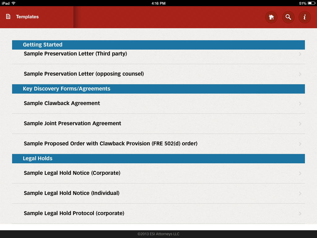 ediscovery assistant for iPad 5